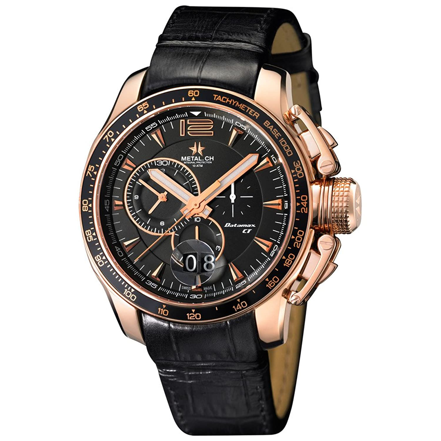 METAL Chronometrie Swiss Made Uhr - DATAMAXX gold 44mm