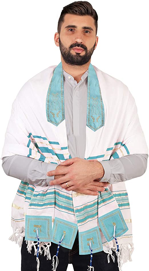 XL 72x36 Inches Tallit Prayer Shawl from Israel Lord/'s Name Spelled on 4 Corners