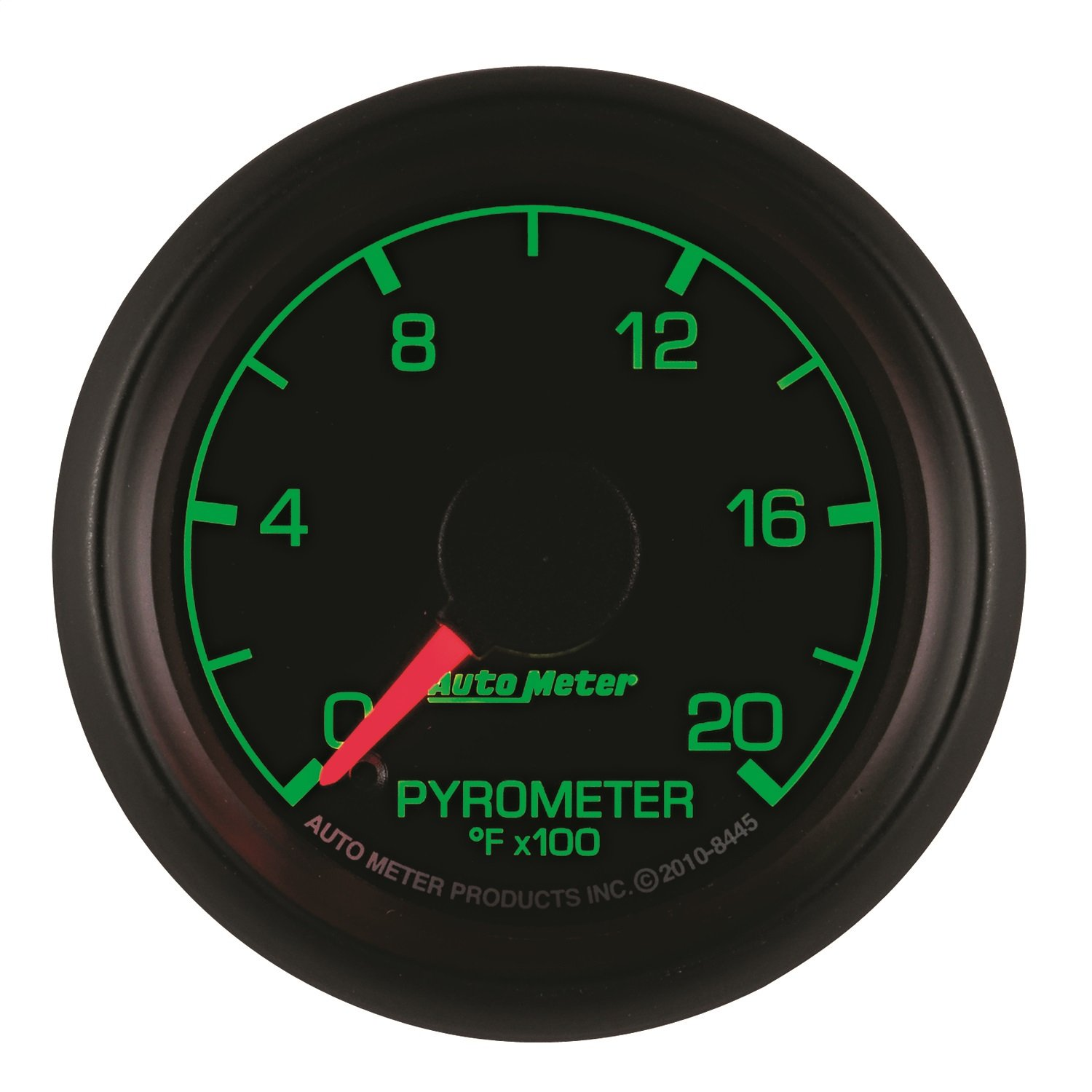 Auto Meter 8445 Factory Match 2-1//16 0-2000 Degree Fahrenheit Pyrometer Kit Gauge for Ford Racing