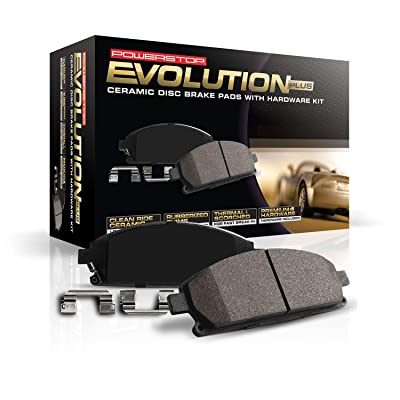 Power Stop 17-1698, Z17 Rear Ceramic Brake Pads with Hardware: Automotive