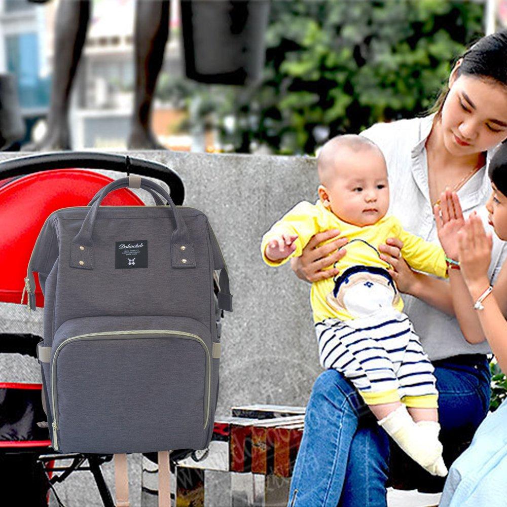 gro/ße Kapazit/ät Stilvoll und langlebig WeTong Multifunktions Baby Windel Taschen Reise Rucksack Organisator f/ür Babypflege Baby Wickeltasche Rucksack Grau