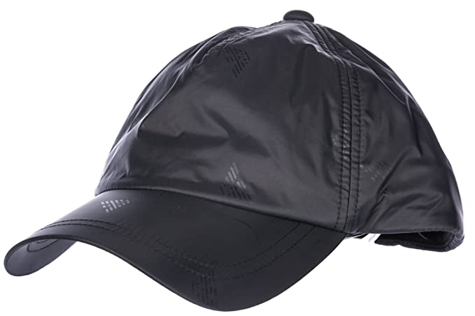 7be1a506 Emporio Armani adjustable men's hat baseball cap black at Amazon ...