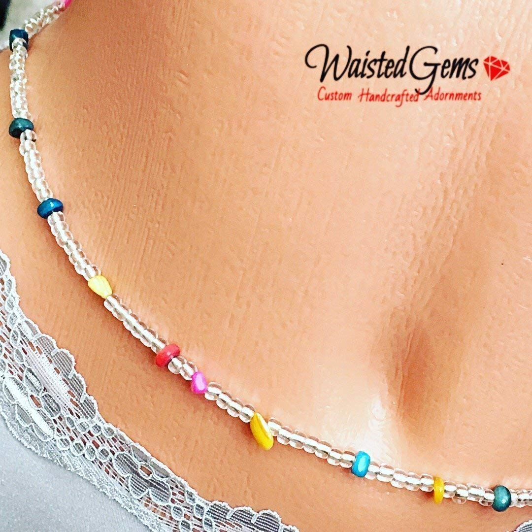 Beaded Waist Beads Body Jewelry Belly Chain African Waist Beads Multiple Sizes