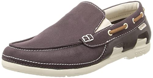 a738a26e265adb crocs Beach Line Boat Men Shoe in Brown  Buy Online at Low Prices in India  - Amazon.in