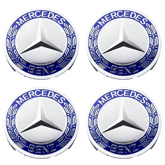 SFONIA 4pcs 75MM Coprimozzo Coprimozzi Auto Tappi Centrali per Ruote per Classe A B C E CLA CLS SLK ML GLK W204 W212 W210 W221 W220