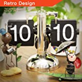 Betus Retro Style Flip Desk Shelf Clock - Classic