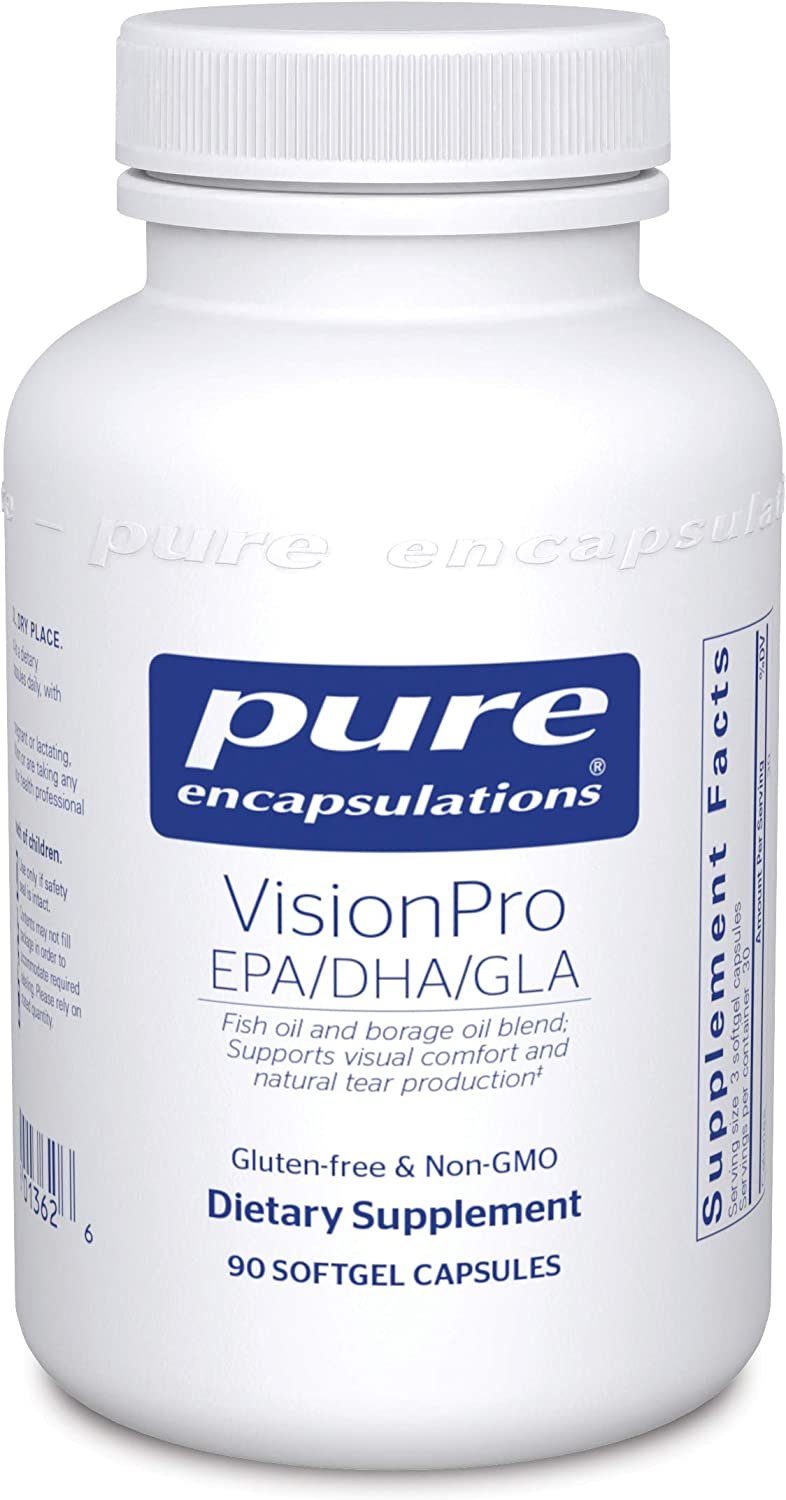 Pure Encapsulations - VisionPro EPA/DHA/GLA - Dietary Supplement to Support Natural Tear Production and Retention of Eye Moisture - 90 Softgel Capsules