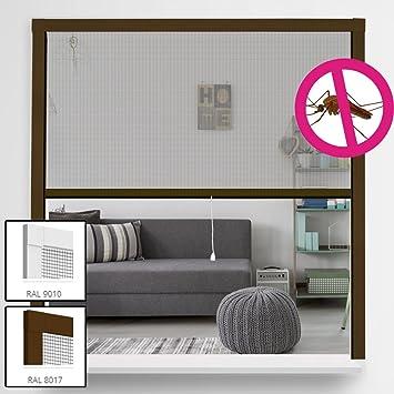Moustiquaire Enroulable Pour Fenêtres En Aluminium Tissu En Fibre