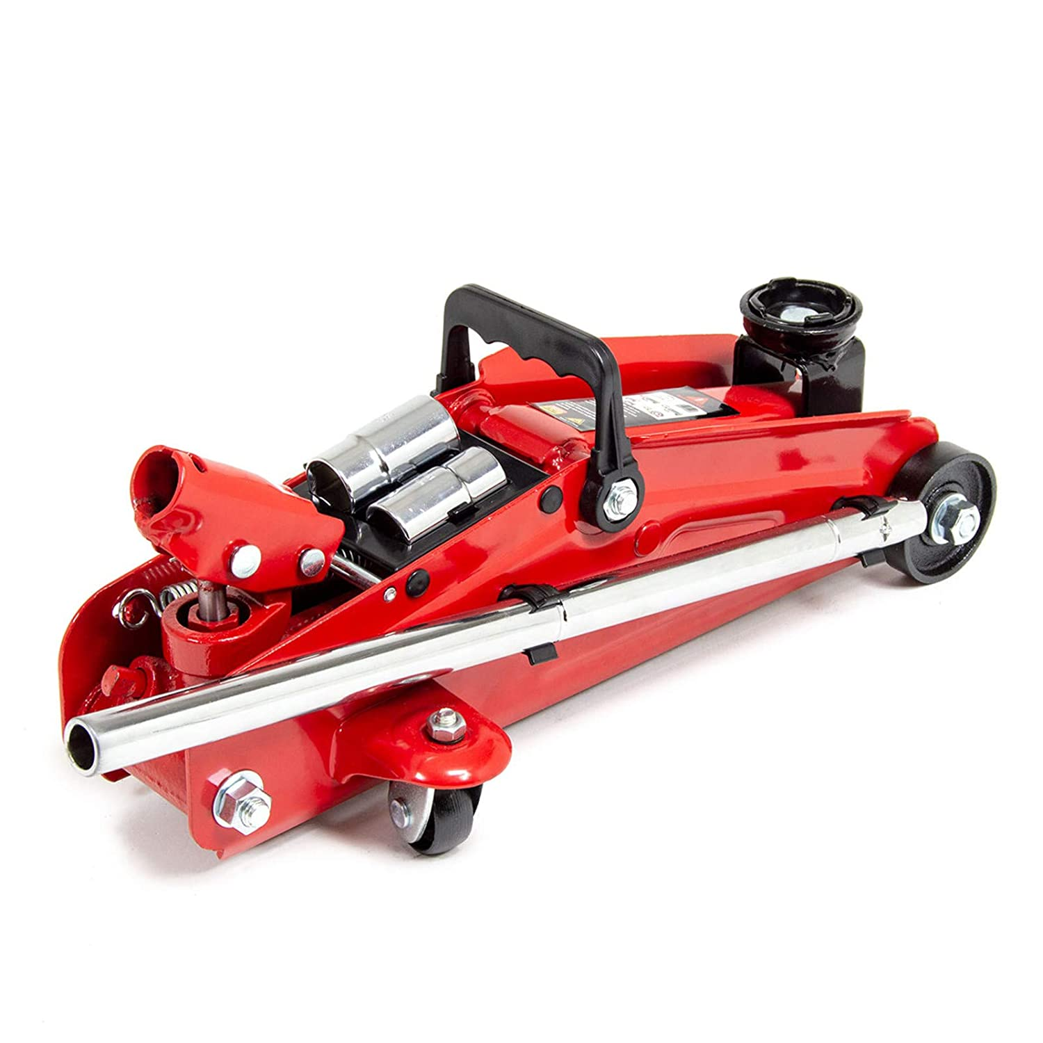Wolf Big Red 2 T Hydraulic Trolley Jack with Extendable Handle /& Combination Wheel Brace