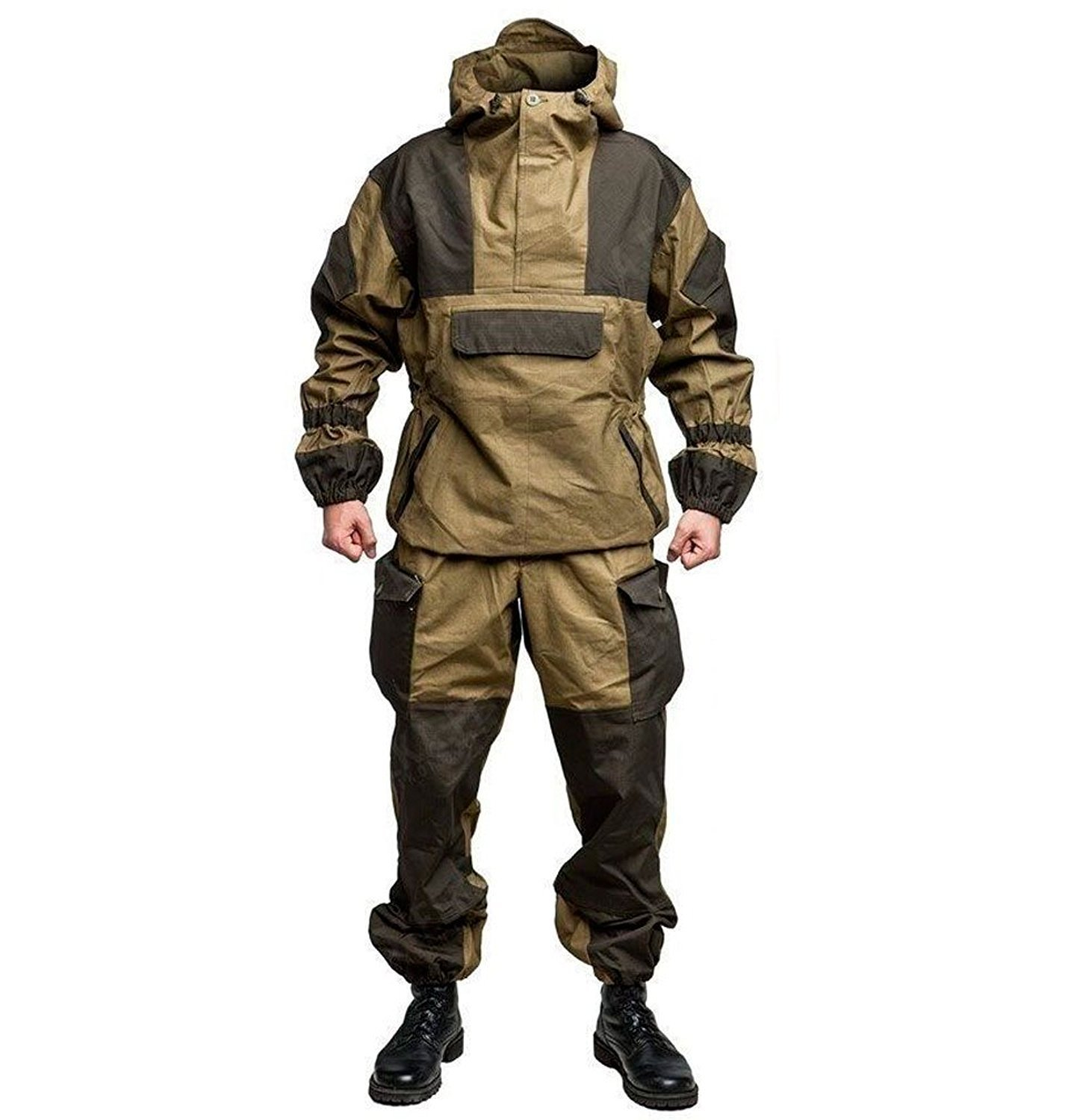 Bars GORKA-4 Genuine Russian Army Special Military BDU Uniform Camo Hunting Suit (Khaki, 64-5 Russian Size (See Chart)) by Bars