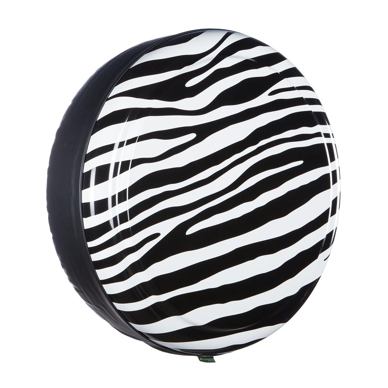 Boomerang 35'' Rigid Tire Cover (Plastic Face & Vinyl Band) - Zebra Print