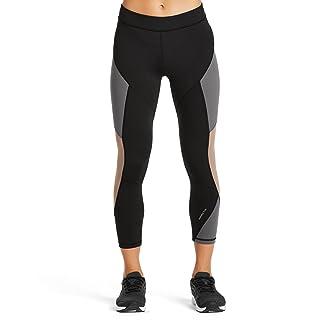 Mission Women's VaporActive Radiate Cropped Yoga Leggings, Moonless Night/Funghi, Medium