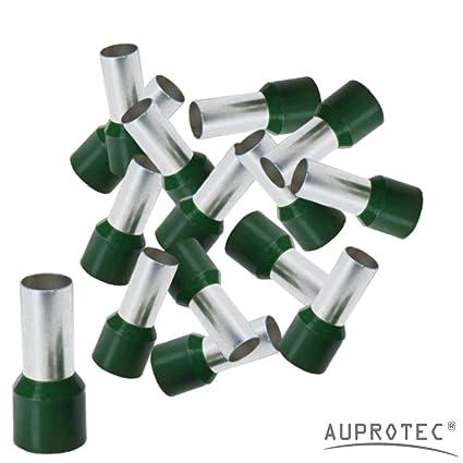 100 pezzi, 0.5 mm/² bianco Puntalini isolati 0,5-16 mm/² Doppio Terminali a Bussola 10-1000 pezzi selezione: