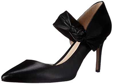 Nine West Women's Rlycool Leather Dress Pump, Black Leather, ...