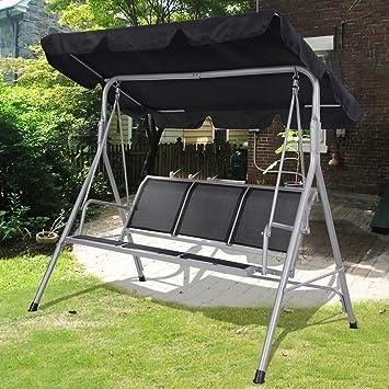 Tomtop Luxury 3 Seater Swinging Garden Hammock Swing Chair Outdoor