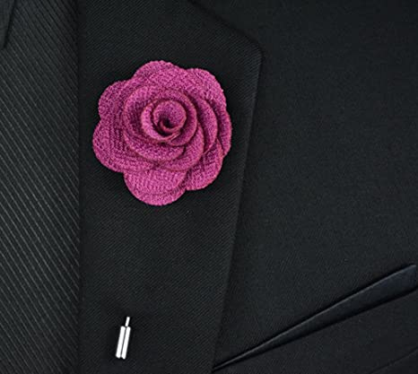 spilla rosa pack Usix uomo tessuto fiore handmade decorazione 12PC q4wnUXva0