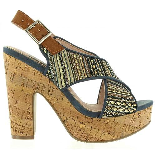 adcc3ebdb0 Refresh Sandalias de Mujer 63591 Textil Jeans Talla 38  Amazon.es  Zapatos  y complementos