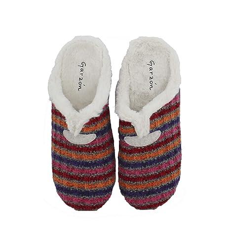 Garzón - Zapatillas de casa Mujer Forro Borreguito - Rosa, 41: Amazon.es: Zapatos y complementos