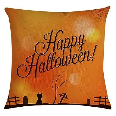 Fundas Cojines 45x45 Halloween Decorativo Patrón de Owl ...
