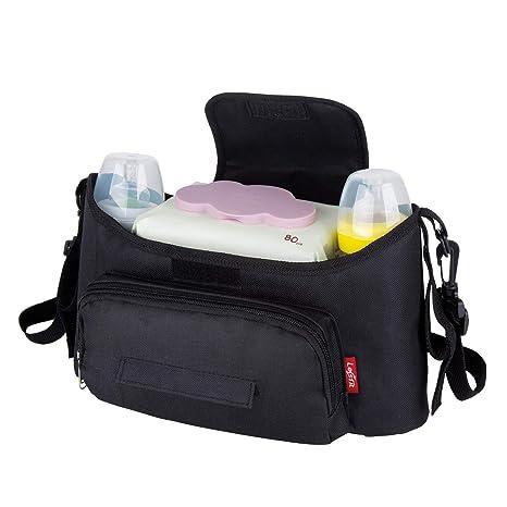 Bebes Cochecito Organizador Bolsa, Universal Impermeable Sillas de Paseo Almacenamiento de Carritos Bolsa con 2