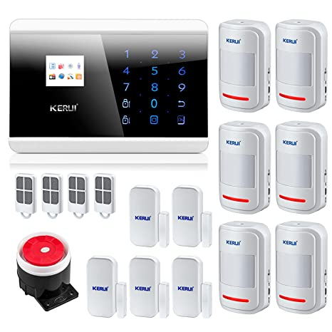 KERUI 8218 G inalámbrico y GSM RTC Carlos seguridad antirrobo inteligente magnético Android App sistema de