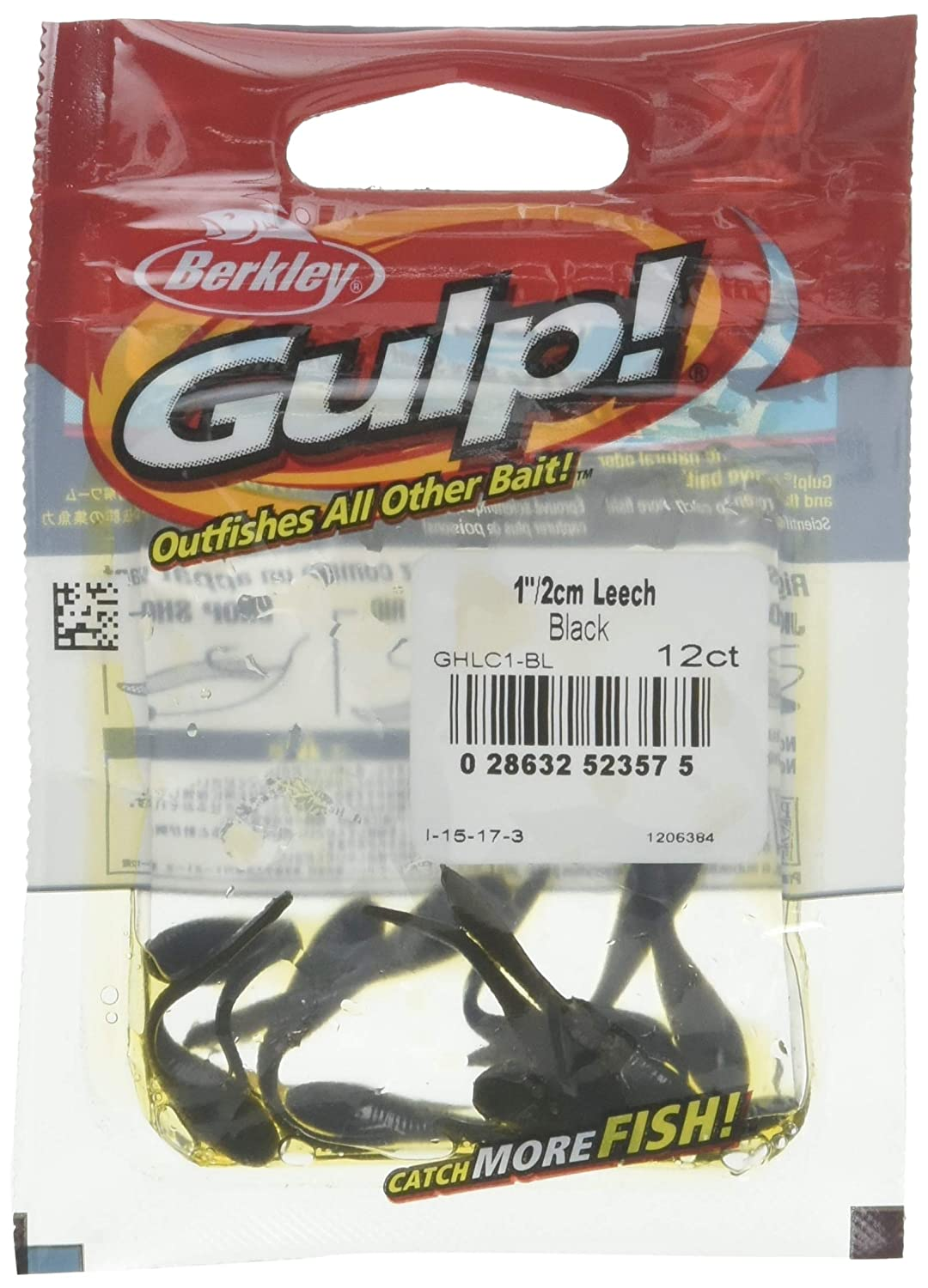 Amazon com : Gulp! Leech : Artificial Fishing Bait : Sports & Outdoors