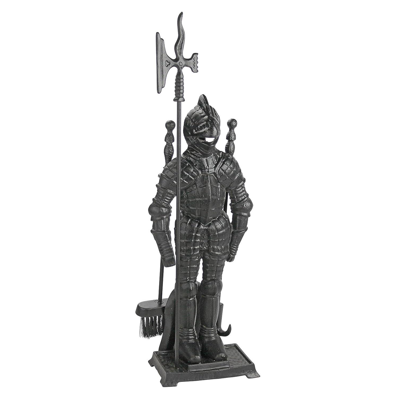 Design Toscano The Black Knight Fireplace Tool Ensemble SP1035