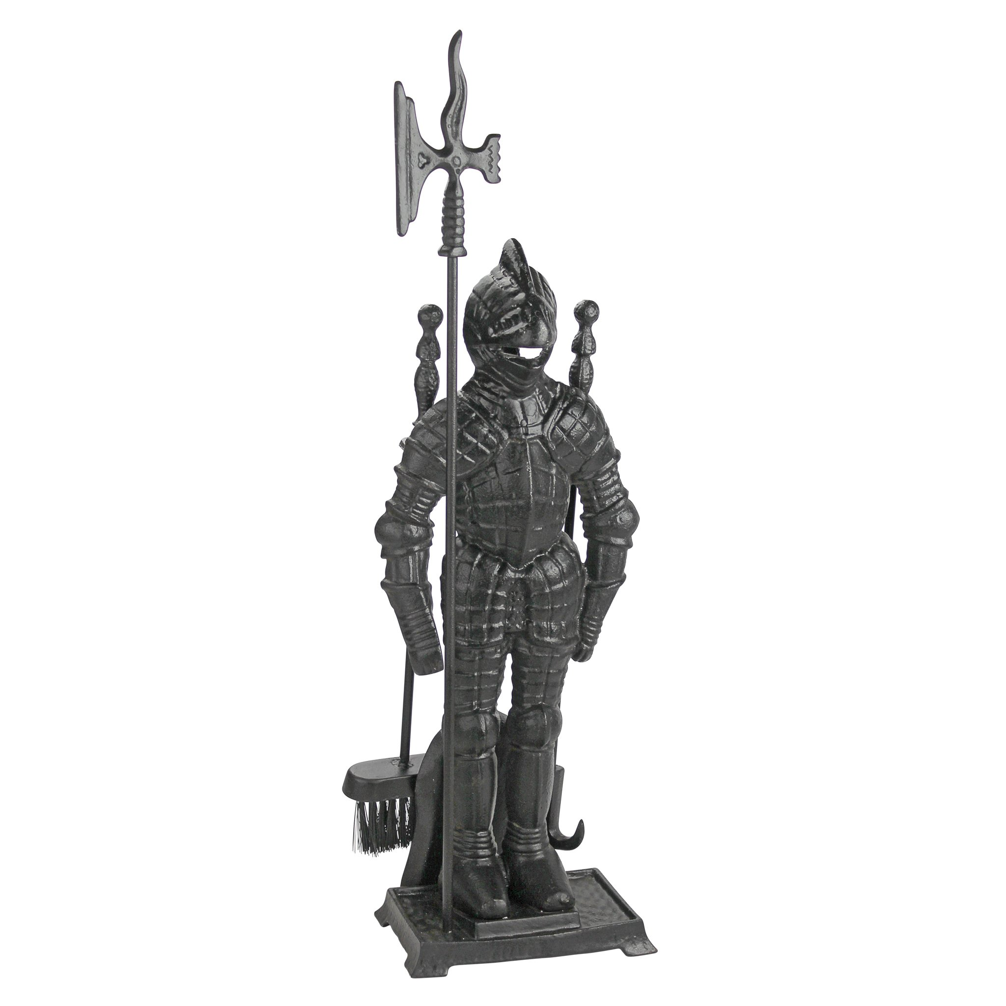 Design Toscano The Black Knight Fireplace Tool Ensemble