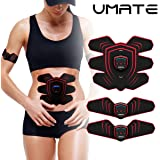 UMATE Abdominal Muscle Trainer Ab Toning Belt,Muscle Toner Ab Belts Core Training Gear Ab Exercise Machine Fitness Exercise Home&Office Portable Training Work for Leg, Arm, Abdomen,Women& Men