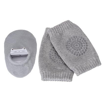 PChero Unisex Bebé Recién Nacido Infantil de grosor antideslizante para calcetines + infantil bebé rodilla Pad Rastreo Seguridad Protector - 0 A 24 ...