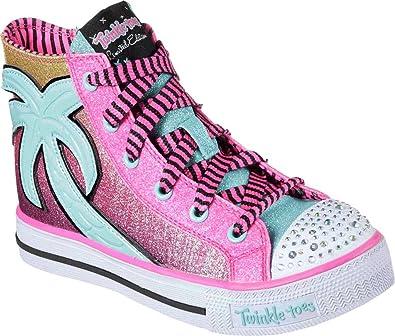 Skechers Baskets Enfant Miami Breeze pour Fille Rose Fille: Amazon