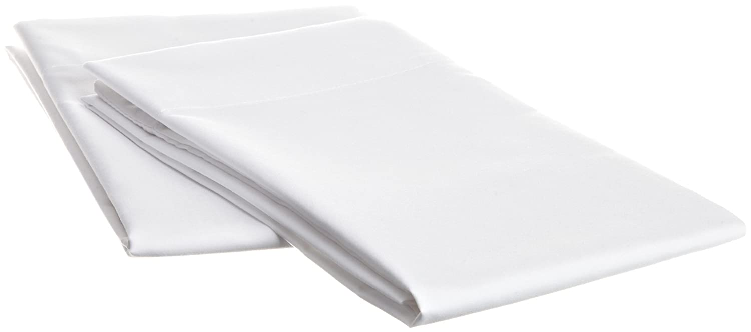 Hospitality Luxury Soft 2-Piece Set Standard Size Pillow Cases of 100-Percent Microfiber Constuction in White Cathay Home Fashions 108071-P/_ST