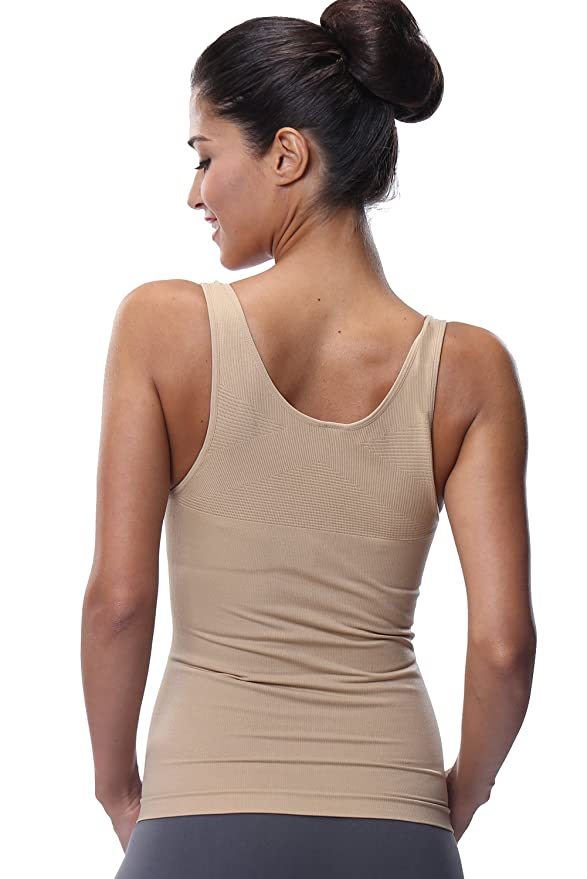 bf3bf351bd Franato Women s Shapewear Camisole Wear Your Own Bra Tank Tops Vest  Amazon.co.uk   Clothing