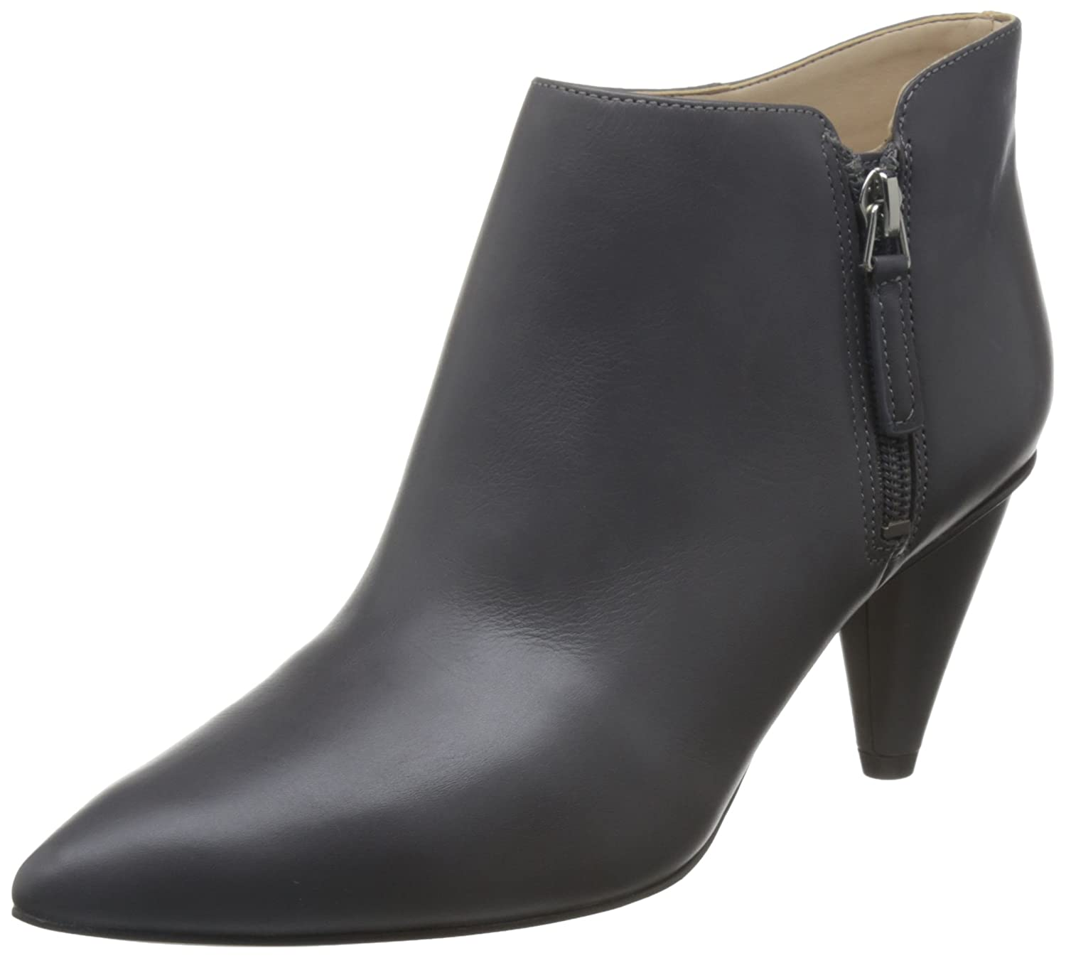 Nine West Womens Yames Leather Pointed Toe Ankle Fashion Boots