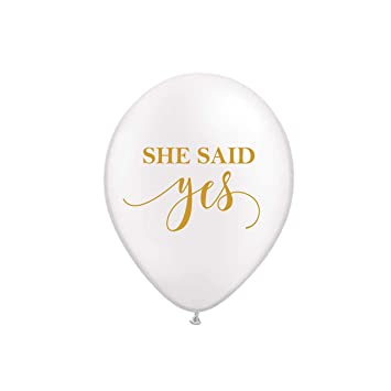 Amazon Com She Said Yes Bridal Shower Balloons Set Of 3 Toys