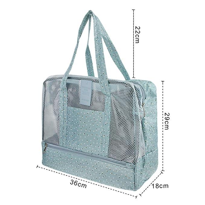 6713ca1d3 Large Dry Wet Depart Bag Waterproof Beach Swim Mesh Tote Hand Duffle Bag  Wash Shower Bag ...