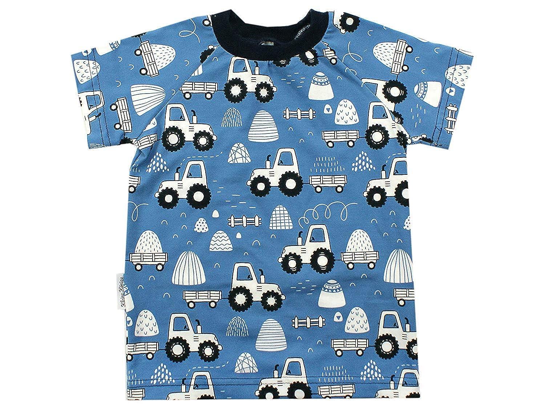 Kleine K/önige B/éb/é Enfants T Shirt Gar/çons /· Mod/èle Tracteur Amour du Pays Noir Bleu /· Oeko-Tex 100 Certifi/é/· Tailles 62-140