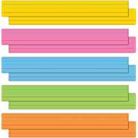 """Astrobrights Colored Sentence Strips, 3"""" x 24"""", 65 lb/176 gsm, 5-Color Assortment, 100 Count (91992)"""