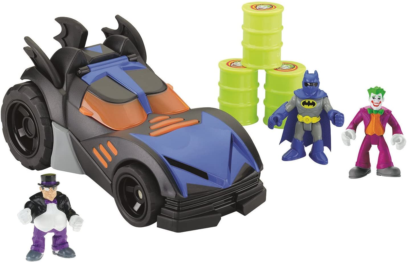 Imaginext DHT64 Batmobile Batman Car with Dart Launcher Shields and Rotatin...