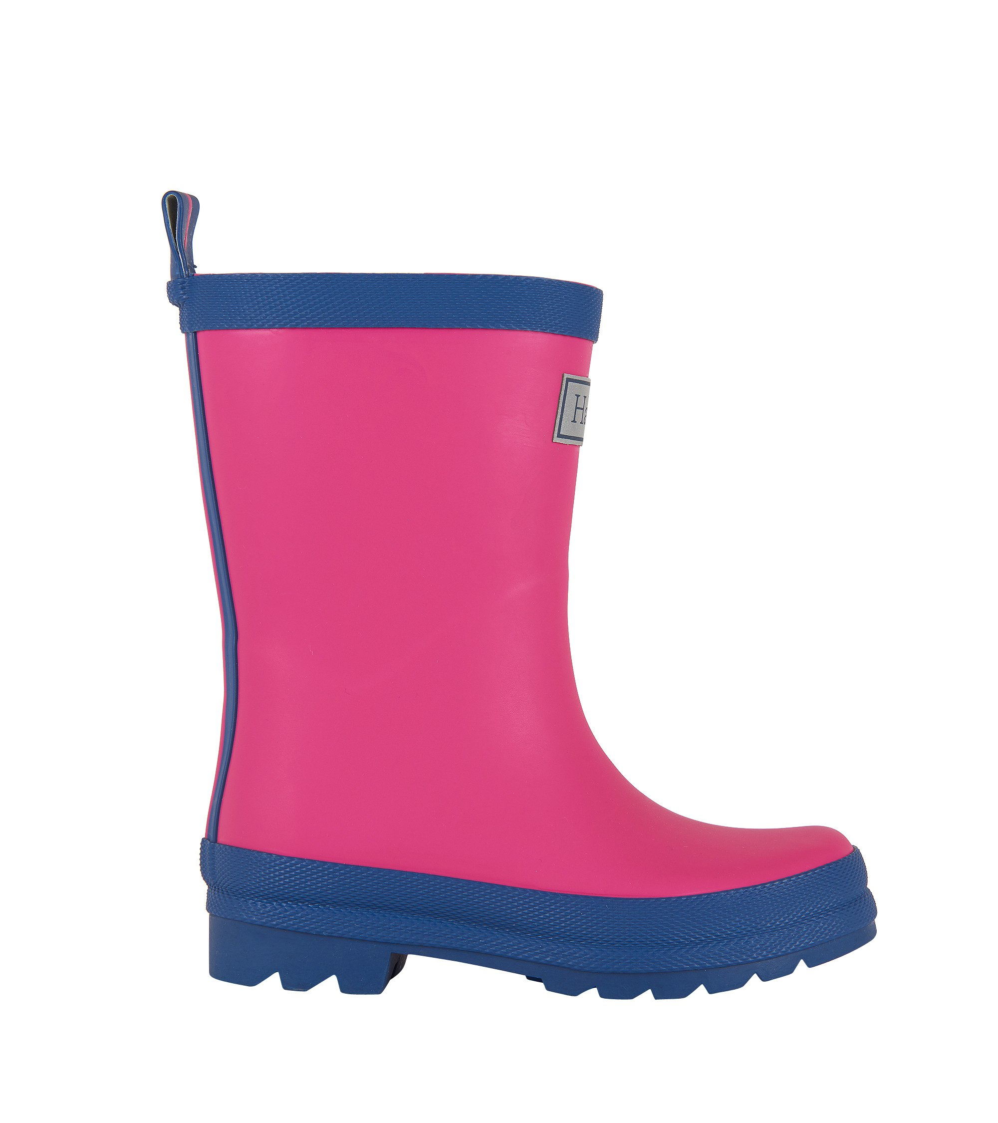 Hatley Kids' Classic Boots Girls Rain Accessory, Fuchsia Navy, 7 M US Toddler by Hatley (Image #7)