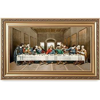 Amazon The Last Supper By Leonardo Da Vinci Framed Art Print
