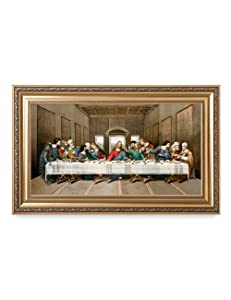 "DECORARTS The Last Supper, Leonardo Da Vinci Classic Reproductions, Giclee Print and Museum Quality Framed Art for Wall Décor, 30"" L"