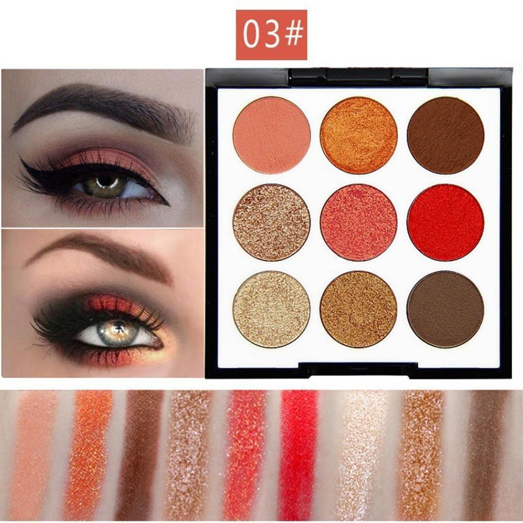 AMA(TM) 9 Colors Shimmer Matte Pro Eye Shadow Palette High Pigmented Cosmetic Eyeshadow Powder (C)