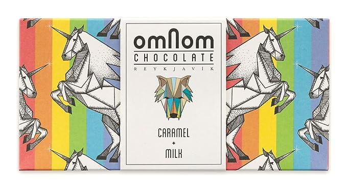 Deliciosa Barra De Chocolate Caramelo y Leche De OMNOM | Chocolate Gourmet Con Sabor Artesanal |