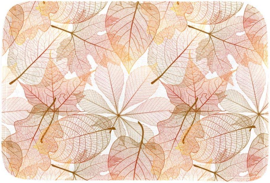 DEYYA Custom Printing Non-Slip Area Rugs Rug 36 x 24 Inch, Leaves Sample Pattern Floor Mat Carpet for Dining Room Living Room Home Decoration