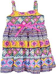 e92c34f8f1b Blueberi Infant Toddler Girls Blue Orange Pink Aztec Sundress Sun Dress 2T