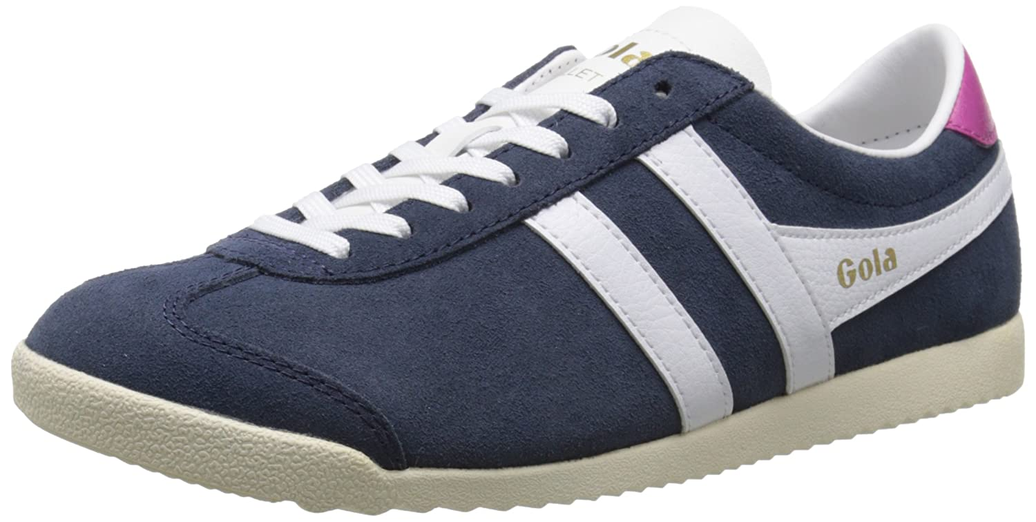 Gola Women's Bullet Suede Fashion Sneaker B015O74VVM 8 B(M) US|Navy/White