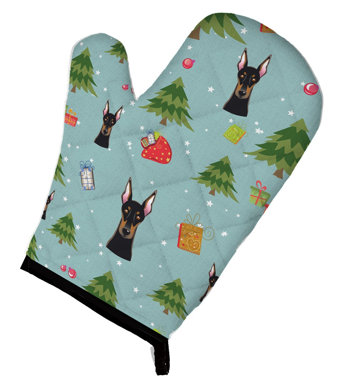 Caroline's Treasures BB5034OVMT Christmas Doberman Pinscher Oven Mitt, 12 by 8.5, Multicolor Caroline' s Treasures 12 by 8.5