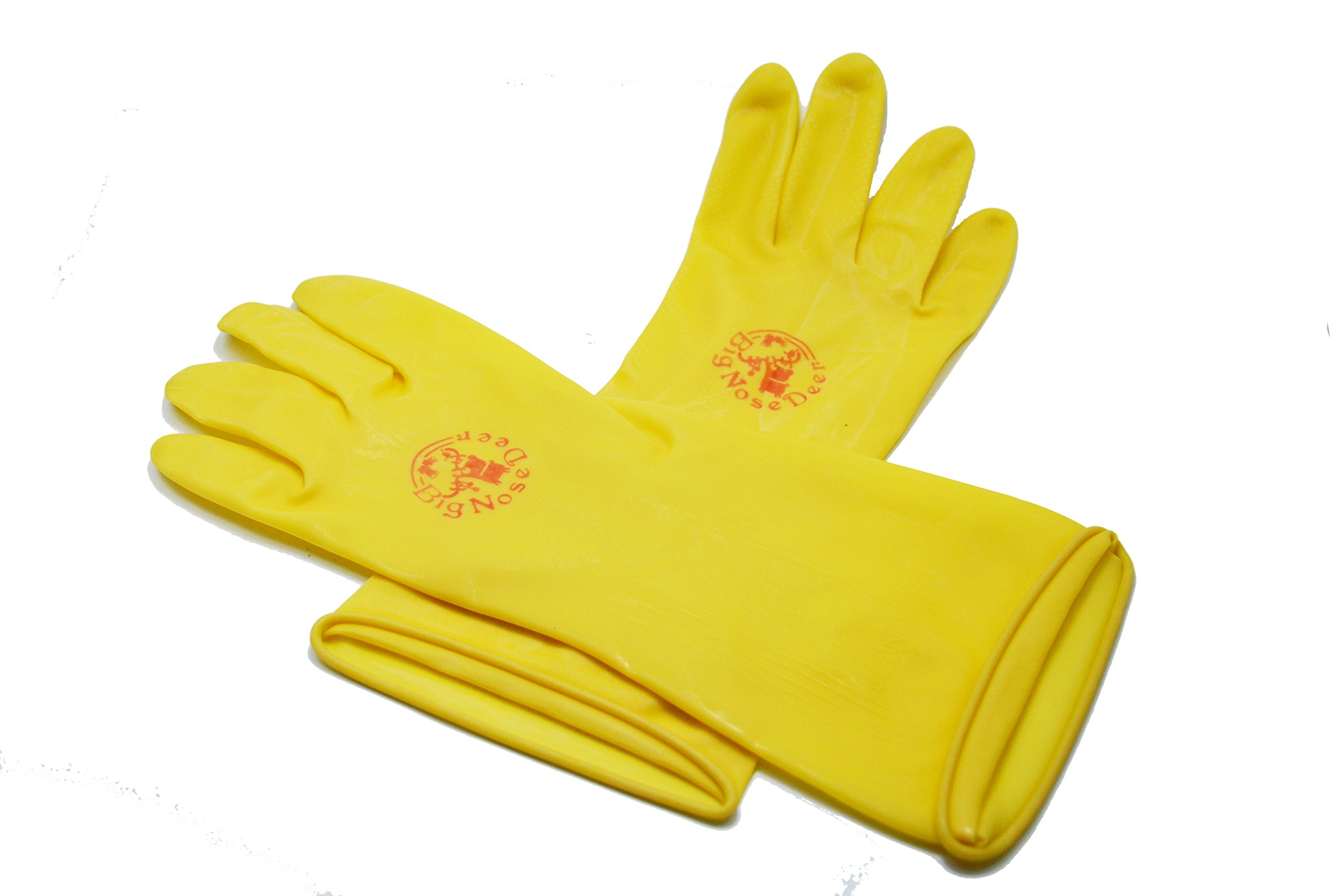 Kitchen Rubber household Cleaning Gloves,waterproof dishwashing Gloves BigNoseDeer