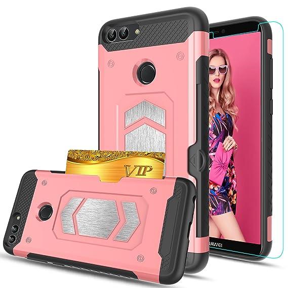 sale retailer 7600b d9aa7 Amazon.com: Huawei P Smart Case, Huawei Enjoy 7S Case With HD Phone ...
